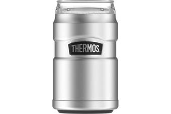 (Stainless Steel) - Thermos Stainless King Can Insulator with 360 Degree Drink Lid, Stainless Steel