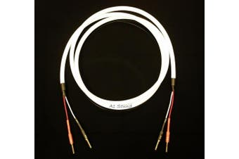 Chord C-Screen Speaker Cable 8 Metre Single Length Terminated With 2x 4mm Chord Banana Plugs Amplifier End To 2x 4mm Chord Banana Plugs Speaker End.
