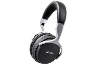 (Black and Silver) - Denon AH-GC20 Wireless Noise Cancelling Over-Ear Headphones