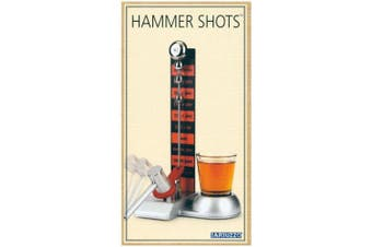 (Hammer Shot) - Barbuzzo Hammer Shot - Entertaining Party Drinking Game - Pour a Shot, Hit the Hammer, and Join the Fun - Includes 60ml Shot Glass - Super Gift for Home Entertaining, Parties, Tailgates, and More