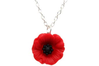 Bluebubble POPPY DAYS 22mm Large Poppy Necklace With FREE Gift Box