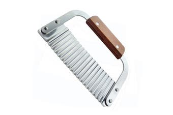 Vegetable Knife,Potato knife,wave knife,Vegetable Crinkle Chip Cutter Tool,Stainless Steel Blade and Wooden Handle