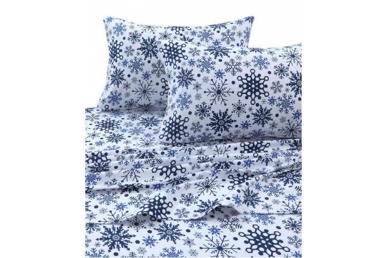 Queen Snowflakes Multi Tribeca Living Snowflakes Printed Flannel Deep Pocket Sheet Set Snowflakes Multi Queen Kogan Com