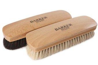 (Nat + Black Set) - Barker Luxury XL Horsehair Polishing Brush