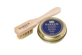 (Black) - Barker Wax Polish and Application Brush