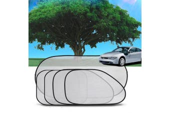 Jiele 5pcs Car window sun shades Baby Car Sunshades -Universal Car Sun Shades for Rear and Side Window Shades Block Maximum UV Rays Protection for Your Kids, Pets and Car