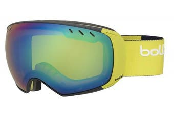 (Medium/Large, Matte/Blue Lime) - Bolle Virtuose Goggles