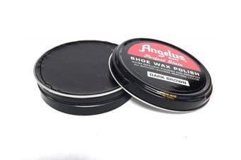 (Dark Brown) - Angelus Perfect Stain Shoe Wax Polish, 80ml