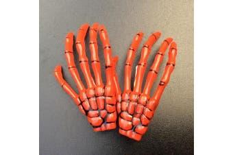 (Orange) - ATST Pair (2) Skeleton Claw Bone Hand Hair Clip (Orange)