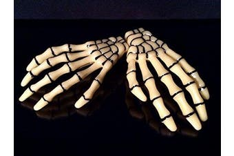 (Bone) - ATST Pair (2) Skeleton Claw Bone Hand Hair Clip (Bone)