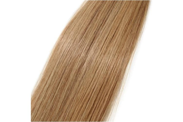 (60cm , #27 Dark Blonde) - 41cm - 60cm Pre Bonded Human Hair Extensions Real Remy Hair 100S Strands Grade 7A Keratin U Tip Nail Straight (60cm -50g, 27 Dark Blonde)