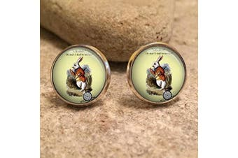 (Silver) - Alice In Wonderland Stud Earrings| mad hatter| Alice| Eat Me| tea party| wonderland| drink me| gift for her| gift for wife| christmas gift