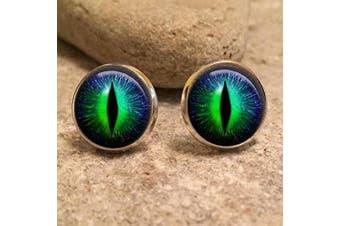 (Bronze) - Dragon Eye Stud Earrings| dragon| eye| fantasy| dragon eyes| dragon jewellery| dragon eye earrings| gift for her|dragon earrings|gift for wife