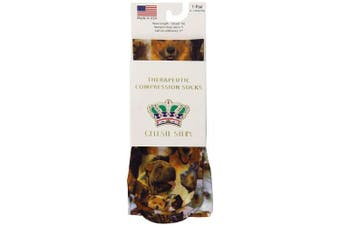 (Doggie) - Celeste Stein Therapeutic Compression Socks, Doggie, 8-15 mmhg, .180ml
