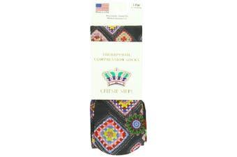 (Black Michelle) - Celeste Stein Therapeutic Compression Socks, Black Michelle, 8-15 mmhg, .180ml
