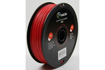 1.75mm Red ABS 3D Printer Filament - 1kg Spool (2.2 lbs) - Dimensional Accuracy +/- 0.03mm