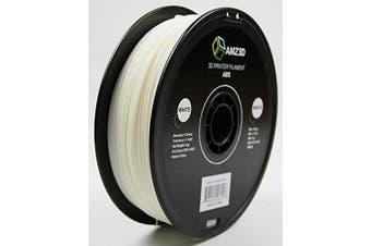 1.75mm White ABS 3D Printer Filament - 1kg Spool (2.2 lbs) - Dimensional Accuracy +/- 0.03mm