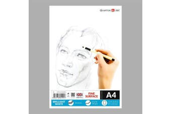A4 Sketch Pad White Drawing Artist Paper GUMMED Book - 50 Sheets - 100 Pages