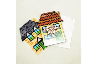50-sheet Plain White Paper Picture Pad - HOUSE (Tear-off Sheets) - Intended for use in children's arts and crafts - Great for class wall displays - Decorate & Personalise