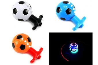 Assorted Colour Spin Top Soccer Ball Sound & Light Toys Gift Kids Children Fun Play Button Launching Music Boy