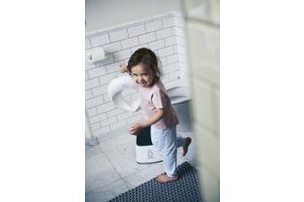 (White/Grey) - BABYBJÖRN Toilet Training Seat, White/Turquoise