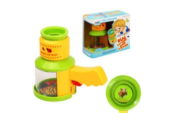 AlleTechPlus Bug Catcher and Viewer Microscope for kids, Nature Exploration Toys Insect Magnifier Backyard Explorer for Children