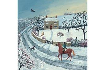 The Art Group Jo Grundy (Winter Ride) -Canvas Print 40 x 40cm, Wood, Multi-Colour, 40 x 40 x 1.3 cm