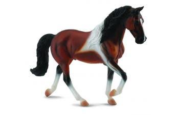 Breyer 1:18 CollectA Model Horse: Bay Pinto, Tennessee Walking Horse Stallion