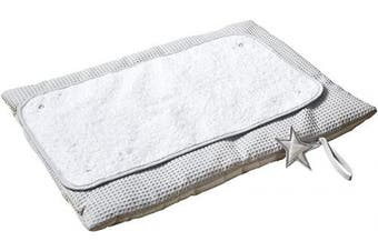 (Grey) - Clair de Lune Grey Silver Lining Roly Poly Travel and Change Mat