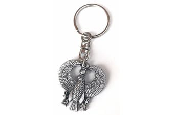 Phoenix Handcrafted From English Pewter Key Ring + 59mm button badge + gift bag