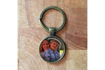 (Black) - Black Personalised Photo Keyring| Photo keyring| personalised keyring| personalised gift| photo keychain| gift for her| jewellery gift fall| photo