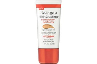 (Light to Medium 30) - Neutrogena Skinclearing Complexion Perfector With Salicylic Acid, Light - Medium, 30ml