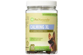 Pet Naturals of Vermont Calming Supplement for Extra Large Dogs, 40 Ct