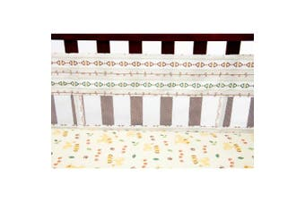 (Tan, Brown, Green, Ivory) - Disney Lion King Under The Sun Secure-Me Crib Liner, Tan/Brown/Green/Ivory
