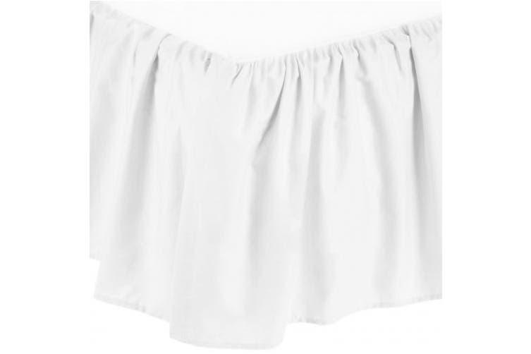 American Baby Company 100% Cotton Percale Mini Crib Bed Skirt, White(Base UPC 0065617316000)