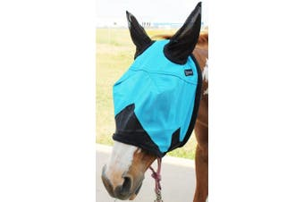Equine Horse Fly Mask Summer Spring Airflow Mesh UV Mosquitoes Turquoise 73203