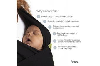 (Kahla) - Boba Wrap Baby Carrier, Original Stretchy Infant Sling, Perfect for Newborn Babies and Children up to 16kg (Kahla)