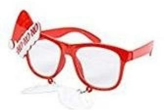 (Santa Hat Glasses) - BFD One Pair Of Festive Christmas Xmas Secret Santa Funny Sunglasses. One Size Fits All Ideal For Men And Women Ladies Christmas Novelty Sun Glasses Plastic Frame, Wipe Clean With Cloth Many Designs