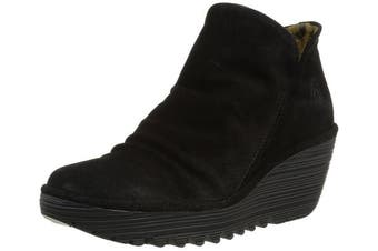 (6 UK, Black (Black 000)) - Fly London Yip Oil Suede, Women's Boots