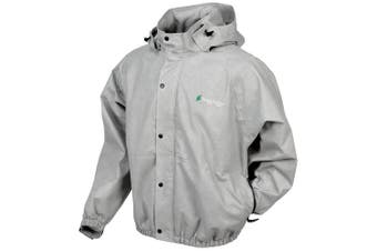 (Small, Cloud Grey) - Frogg Toggs Men's Classic Pro Action Jacket with Pockets