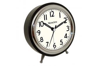 Westclox Classic Quartz Alarm Clock, Analogue Display, Round, 13cm , Black