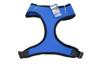 (m, Blue) - Casual Canine Mesh Harness Vest, Medium, Blue