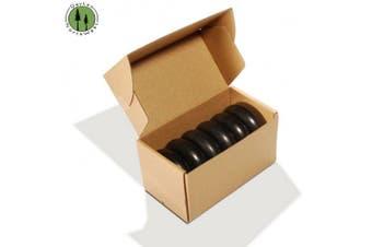 DevLon NorthWest Hot Stone Massage 6 PC + Flat Circular Basalt Stone Set + 3.5x3.5x1.25