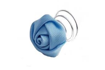 (Blue) - Satin Rose Hair Twists (Blue)
