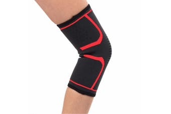 (Red - Single, Small) - FITTOO Knee Sports Support Sleeve Compression Brace for Men and Women - Anti Slip, Joint Pain Relief, Arthritis & Injury Recovery - Support for Running, Jogging, Cycling, Hiking, Workouts