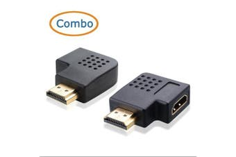 (90 + 270 Degree) - Cable Matters Combo, 270 Degree and 90 Degree Angled HDMI Adapter