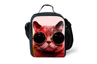 (color 1) - Showudesigns Fun Pet Cat Lunch Boxes Bag Thermal Women Children Picnic Food Bag