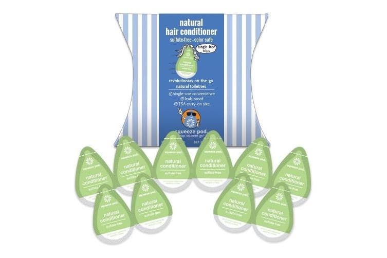 Squeeze Pod Travel Size Natural Conditioner - 10 Single Use Pods