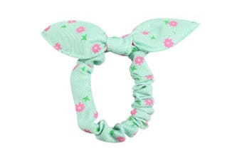 Bow Tail Scrunchie Green FLOWERS