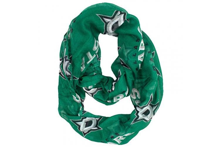 (Dallas Stars, Standard Color) - Little Earth Productions 500615-STAR Dallas Stars Sheer Infinity Scarf